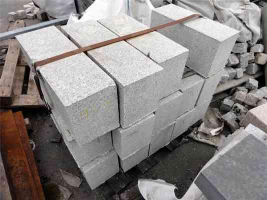 Blocs granit gris 20x25 cm