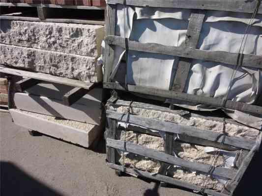 Blocs mur granit jaune 120x100x20 cm