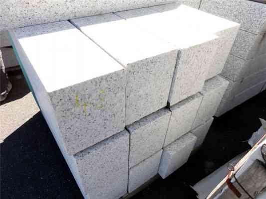 Bordures granit gris blanc 100x20x25 cm