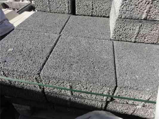 Pavés béton gris foncé 20x20x8 cm BIRKENMEIER
