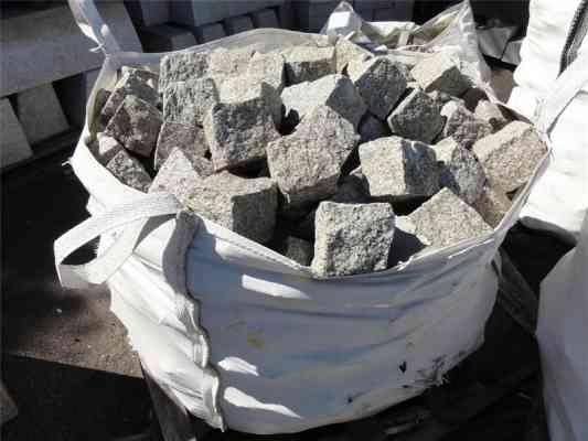 Pavés granit gris beige 9/11 cm