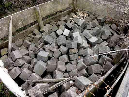 Pavés en lave du Cantal 7/10 cm