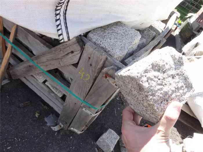 Pavés granit gris 10/12 cm